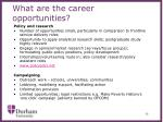 what are the career opportunities3