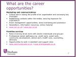 what are the career opportunities4