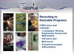 recruiting to desirable programs2