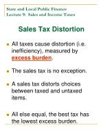 state and local public finance lecture 9 sales and income taxes1