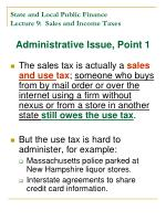 state and local public finance lecture 9 sales and income taxes10