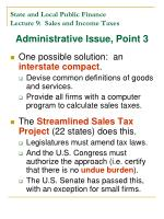 state and local public finance lecture 9 sales and income taxes12