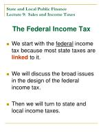 state and local public finance lecture 9 sales and income taxes14
