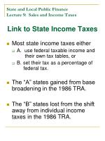 state and local public finance lecture 9 sales and income taxes27