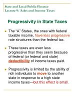 state and local public finance lecture 9 sales and income taxes28