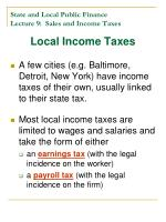state and local public finance lecture 9 sales and income taxes31