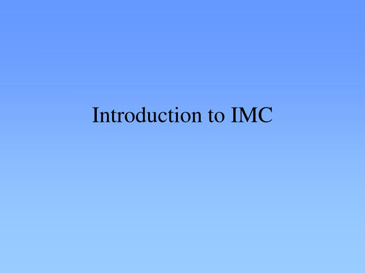introduction to imc n.