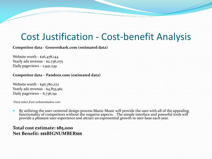 Cost Justification - Cost-benefit Analysis