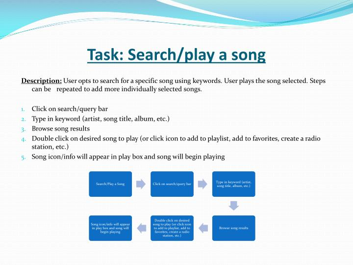 Task: Search/play a song