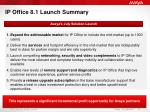 ip office 8 1 launch summary