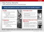 key partner benefits offer designed with partner and client input