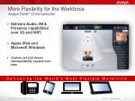 more flexibility for the workforce avaya flare communicator