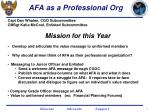 afa as a professional org