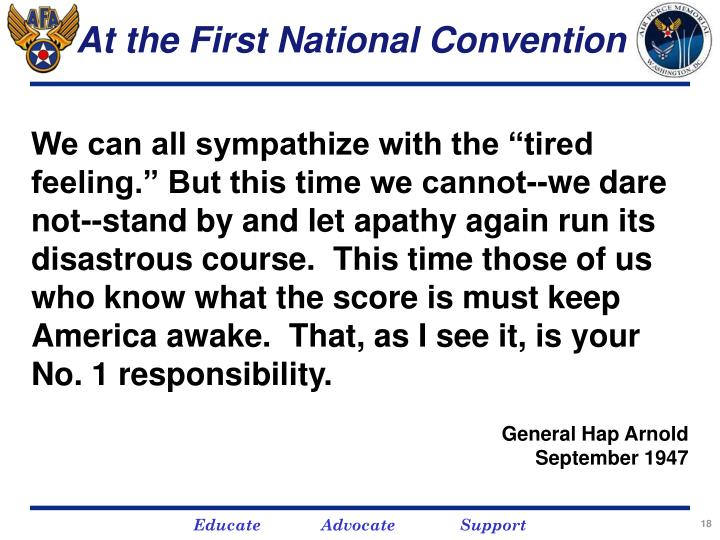 At the First National Convention