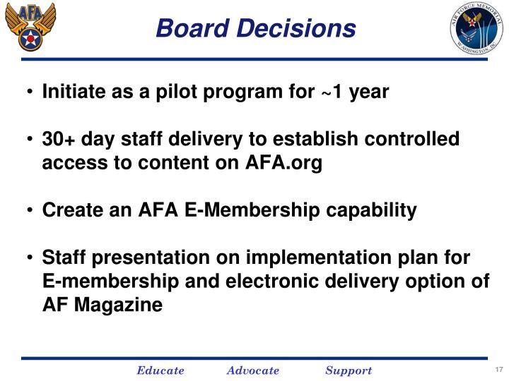 Board Decisions
