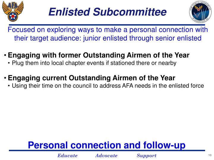 Enlisted Subcommittee