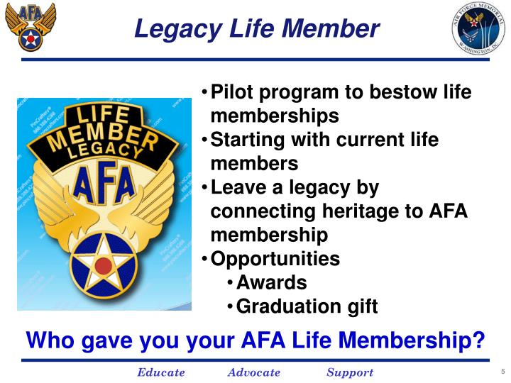 Legacy Life Member