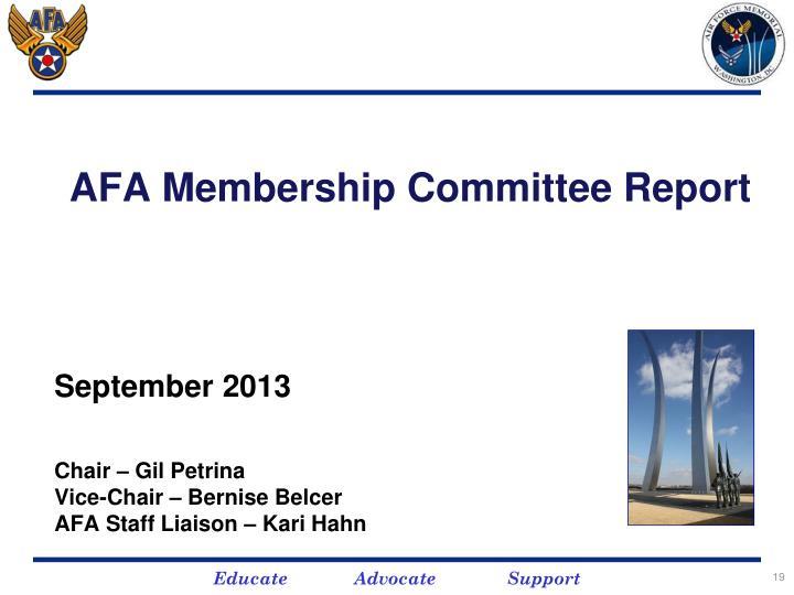 AFA Membership Committee Report