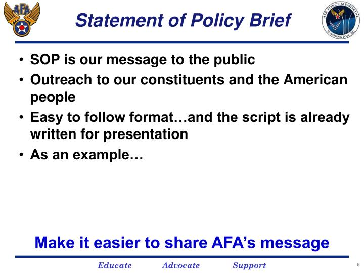 Statement of Policy Brief