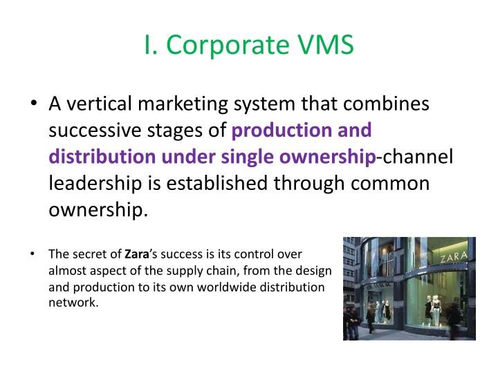 I. Corporate VMS