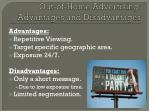 out of home advertising advantages and disadvantages