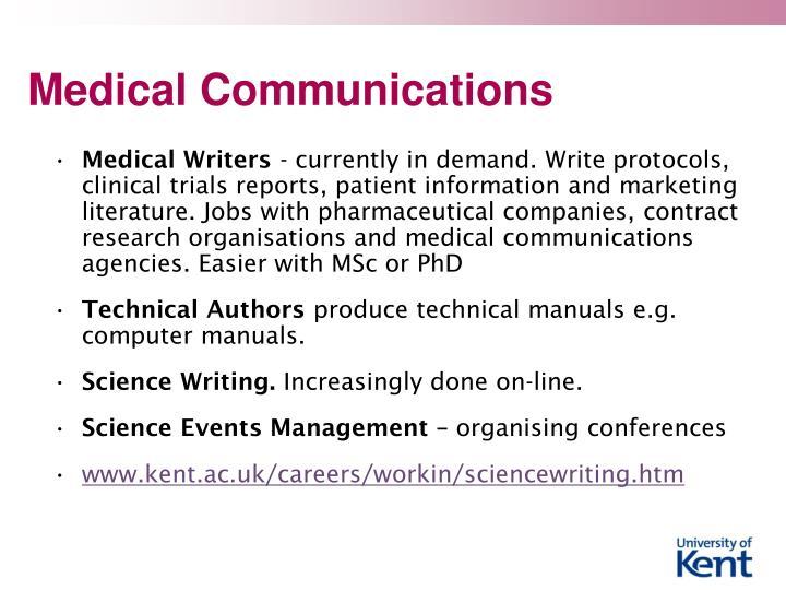 Medical Communications