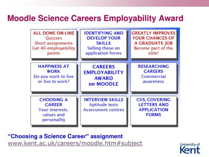 Moodle Science Careers Employability Award