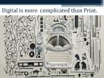 digital is more complicated than print