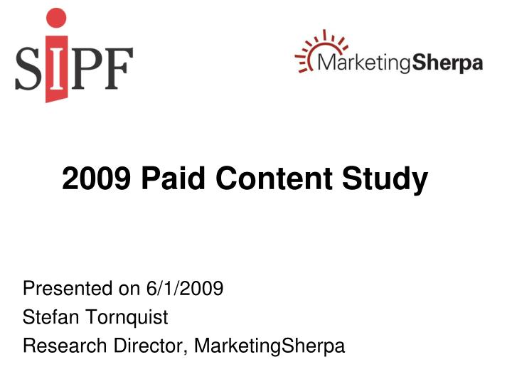 2009 paid content study n.