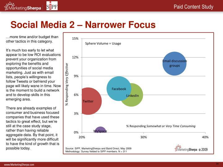 Social Media 2 – Narrower Focus