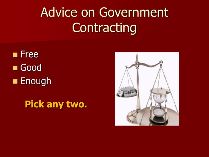 Advice on Government Contracting