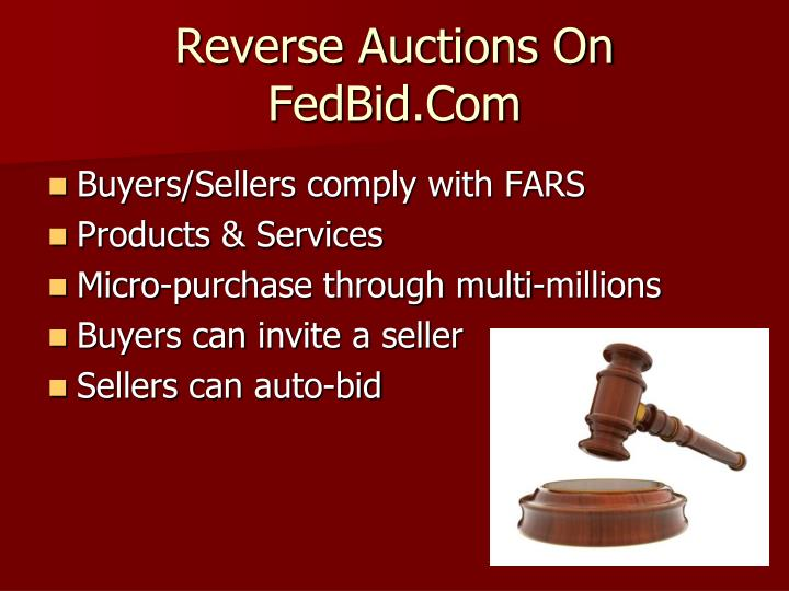 Reverse Auctions On
