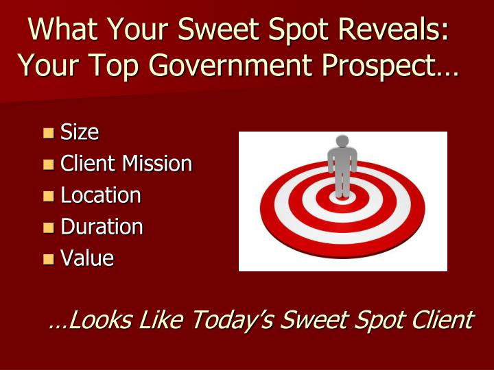 What Your Sweet Spot Reveals: