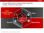 avaya midmarket collaboration solution simple powerful affordable1