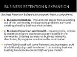 business retention expansion