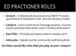 ed practioner roles