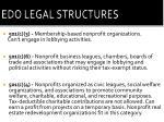 edo legal structures