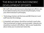the role of bis in economic development efforts