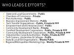 who leads e efforts