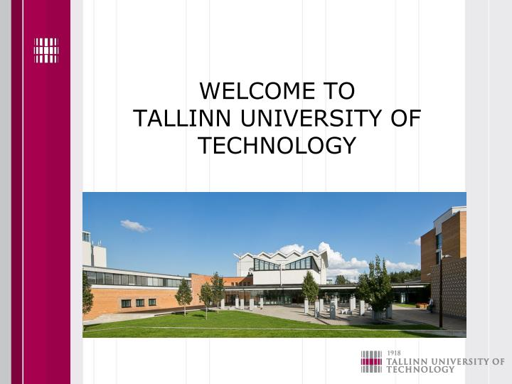 welcome to tallinn university of technology n.