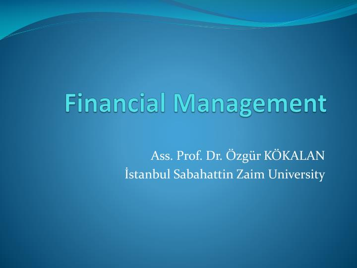 financial management n.