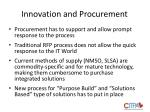 innovation and procurement