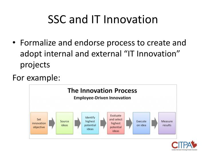 SSC and IT Innovation