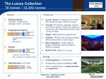 the luxury collection 76 hotels 12 399 rooms