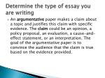 determine the type of essay you are writing