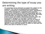 determining the type o f essay you are writing