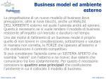 business model ed ambiente esterno