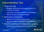 administrative tips