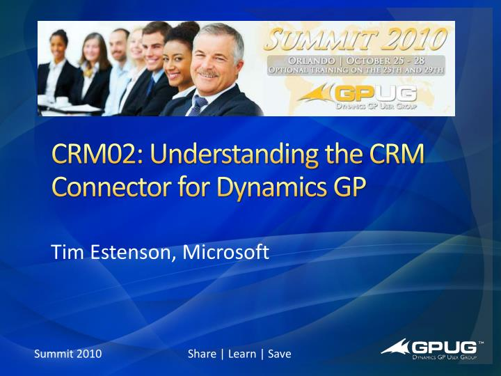 crm02 understanding the crm connector for dynamics gp n.