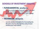 schools of investment analysis